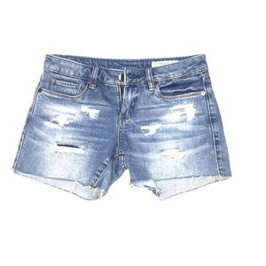 Blank NYC distressed jean shorts size 24